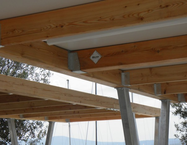 Pergolas on the new square in Crikvenica